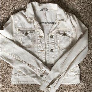 Free People XS white denim jacket